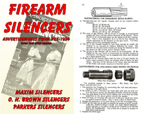 Silencers for Firearms Catalogs (Maxim, Brown and Parker) Pre-1934