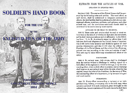 Soldier's Handbook 1884 for Enlisted Men in the Army