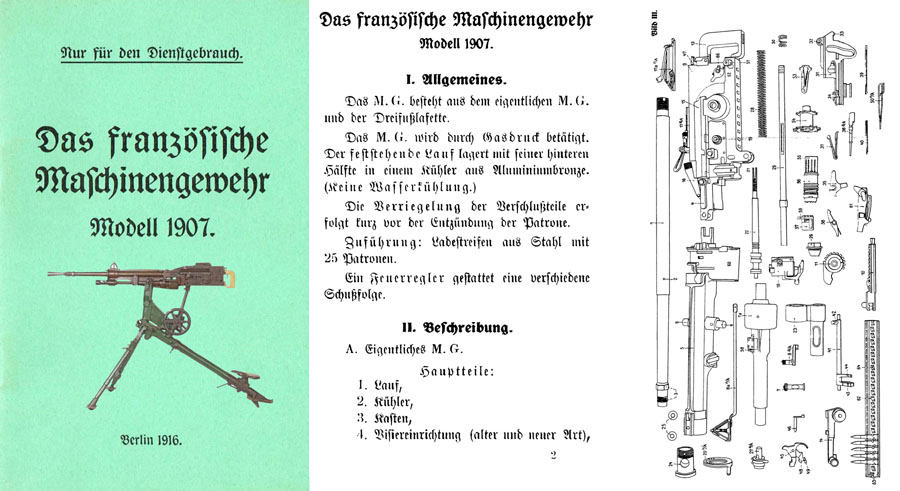 St. Etienne 1916 M1907 Machine Gun Manual