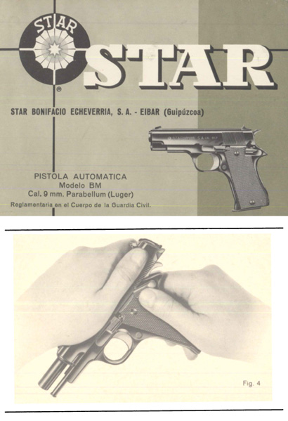 Star Pistola Automatica 9mm Modelo BM Manual