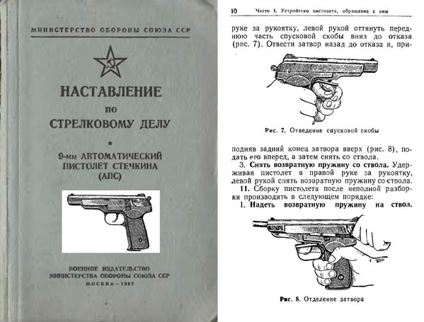 Russian Stetchkin 1957 9mm APS Automatic Pistol Manual