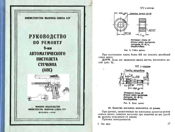 Russian Stetchkin 1958 9mm Automatic Pistol (APS) Manual