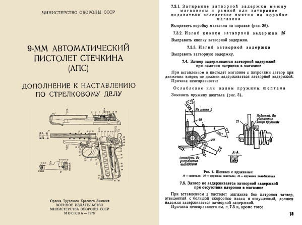 Russian Stetchkin 1978 (APS) 9-mm Automatic Armourer's Manual