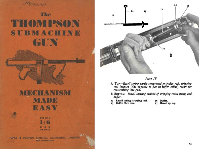 Thompson c1950 Submachine Gun M1928 Manual (UK)