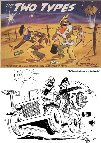 The Two Types 1960 Eighth Army Cartoons (UK)