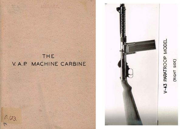 Vesely 1944 VAP v-42 Machine Carbine (UK)