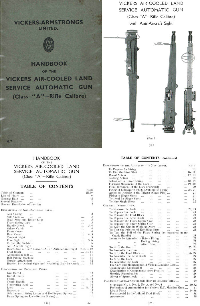 Vickers c1939 Air-Cooled Land Service Automatic Gun (Class A)