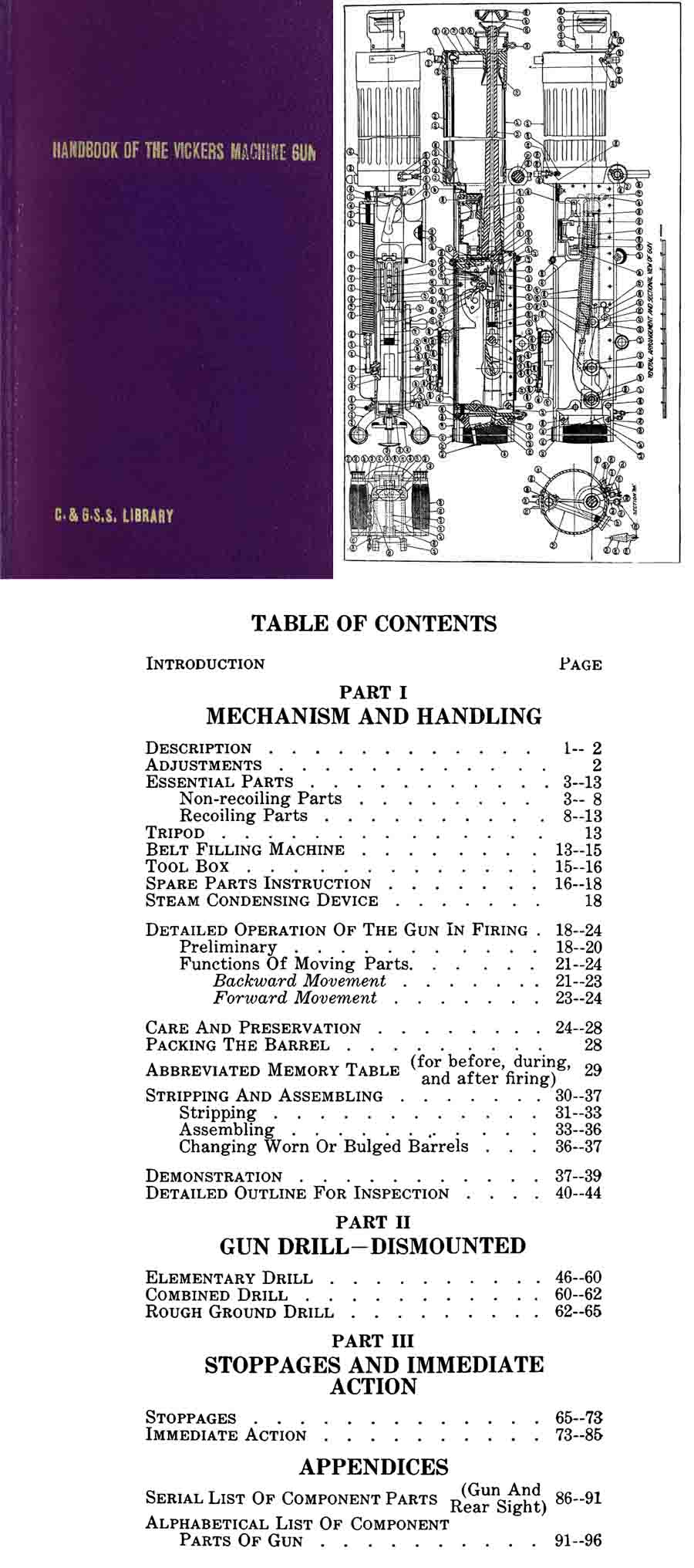 Vickers 1918 M1915 Machine Gun Handbook (US- Fort Sill)