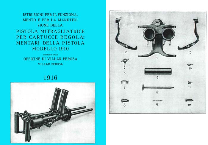 Villar Perosa Machine Gun 1916 Manual (Italian Text)