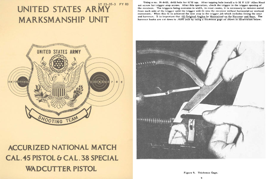Accurized National Match Cal .45 & .38 Spl Wadcutter Pistol- US Army Shooting Team