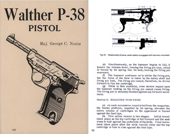 Walther P-38 Pistol by George C. Nonte- Manual