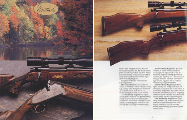 Weatherby 1986 Fine Guns Catalog