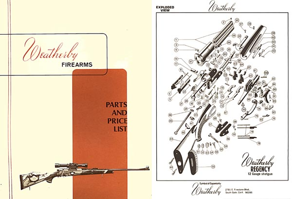 Weatherby c1972 Parts Catalog