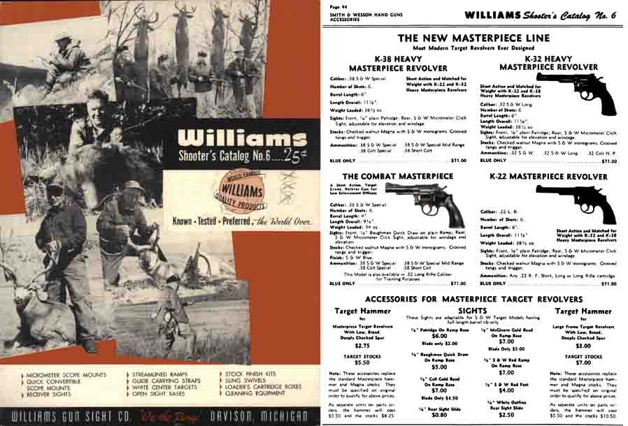 Williams 1956c Shooter's Catalog